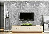 Yosot Dormitorio Minimalista Moderno Salón Tv Fondo Rayas Curva 3D Papel Tapiz No Tejidas Gris Plata