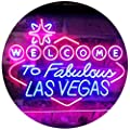 ADVPRO Welcome to Las Vegas Casino Beer Bar Display Dual Color LED Neon Sign st6-i3078