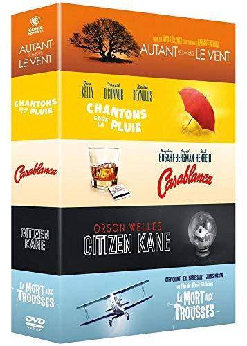 Collection de 5 films classiques Warner : Autant en emporte le vent + Chantons sous la pluie + Casablanca + Citizen Kane + La Mort aux trousses [Francia] [DVD]