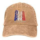 were Men Vintage Adjustable Cap Personalized Cath¨¦drale Notre Dame De Paris Funny Cowboy Hat, Deep Heather Sombreros y Gorras