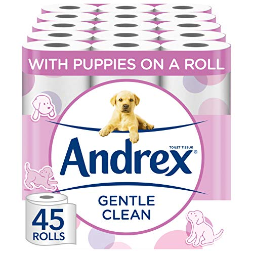 Andrex Gentle Clean Toilet Tissue, 45 Rolls