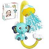 TARTIERY Baby Badewanne Duschkopf Elefant Wasserpumpe Und Kofferraum Auslauf Rinser Wasserspritzer Dusche Wasserhahn Und Badewanne Wasserpumpe Badespielzeug Für Kleinkinder