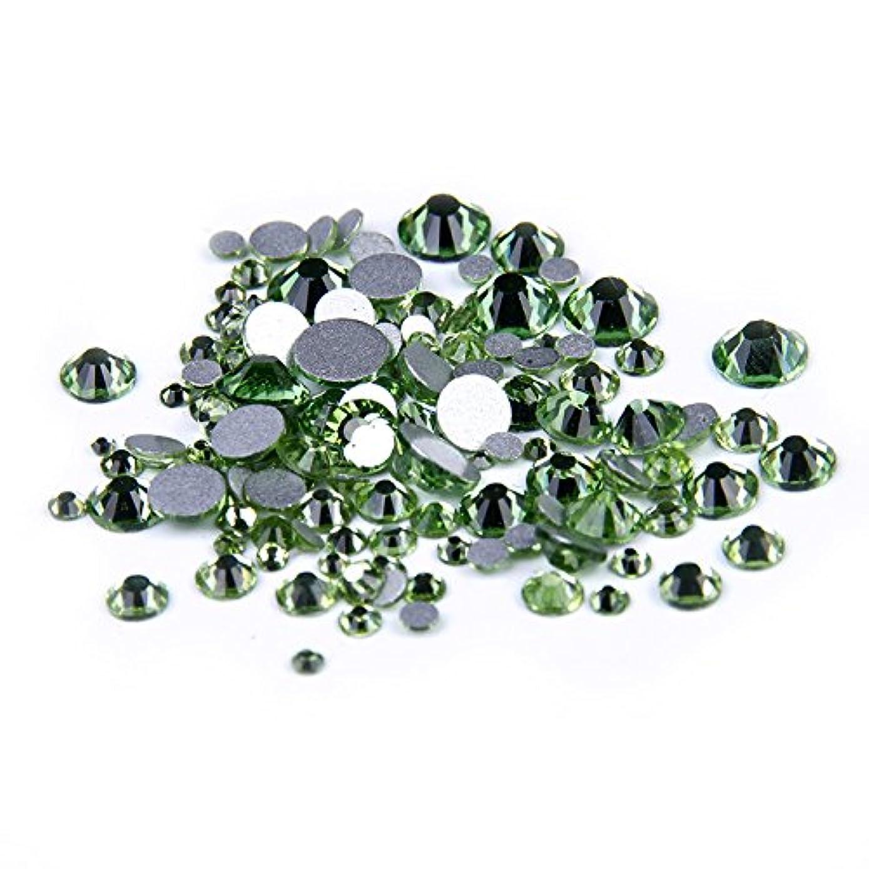 見る人動くロッカーNizi ジュエリー ブランド ペリドット ラインストーン は ガラスの材質 ネイル使用 型番ss3-ss34 (SS16 1440pcs)