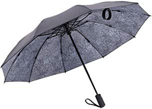 ETH Umbrella Umbrella Folding Umbrella Umbrella Automatic Reversible 10 Bones Windproof Umbrella Compact And Light And Convenient Business, Travel, Camps elegant