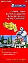 Slovenia, Croatia, Bosnia and Herzegovina, Serbia, Montenegro, Macedonia NATIONAL Map (Michelin National Maps) by Michelin published by Michelin (2012)