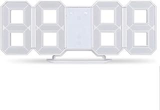 ZRK Five-Color Optional Stereo Clock Intelligent Temperature Alarm Clock Creative 3D Digital Wall Clock