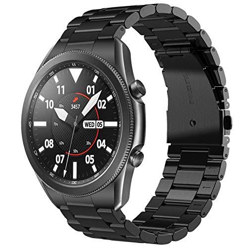 V MORO Armband Kompatibel fur Samsung Galaxy Watch 3 45mm Keine Lucke Solider Edelstahl Metall Ersatz Uhrenarmband Bracelet Strap Band fur Galaxy Watch 3 45mmBlack
