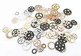 100 Gram DIY Antique Cog Wheel Steampunk Gears Charms Pendant Clock Wheel Gear (Assorted Color)