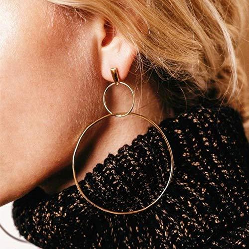 Pendientes de gota de flor de piedra rosa de la manera para las mujeres pendientes de diamantes de imitación de oro moderno joyería regalo