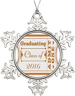 PotteLove Tree Branch Decoration Ticket Look Graduating Class of 2016 Orange Snowflake Ornaments Canada Graduating