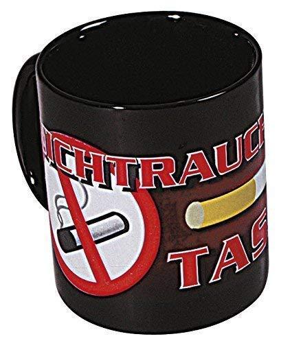 Tasse mit Print Nichtraucher schwarz 57126