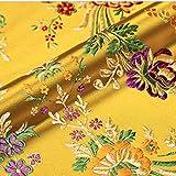 Vintage Satin Kunstseide Stoff Chinesische Begonie Blume