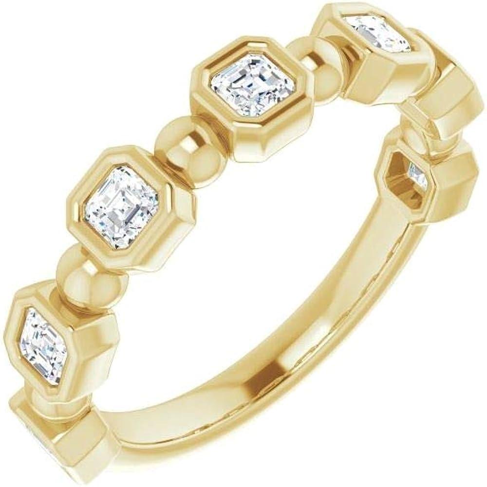 Bonyak Jewelry 14kt Yellow Gold 3 Regular store Band OFFicial store Anniversary 4 Diamond CTW
