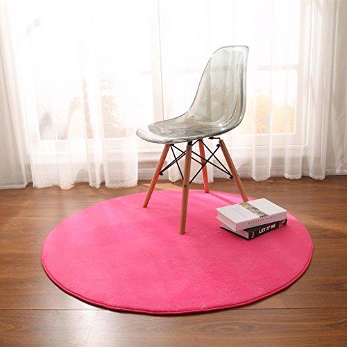 Ali Table à café ronde panier panier panier tapis ordinateur chaise coussin rond tapis de chevet (Couleur : Rose rouge, taille : Diameter 120cm)