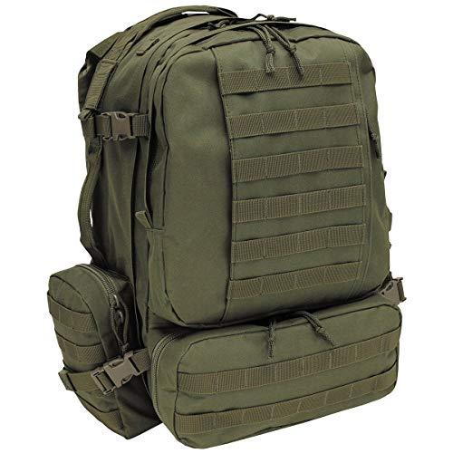 MFH Italienischer Rucksack Tactical Modular 45 l Daypack Outdoor Backpack (Oliv)