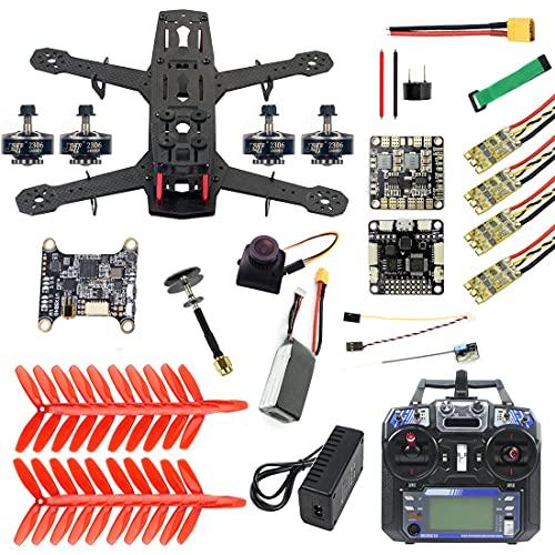 CALALEIE Fai da te telaio 250 completa Kit FPV Quadcopter Camera Drone in fibra di carbonio 250MM SP Racing F3 FC Flycolor Raptor BLS Pro-30A ESC 700TVL Parti di montaggio accessori giocattolo