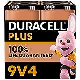 Duracell - NOUVEAU Piles alcalines 9V Plus, 6LR61, paquet de 4