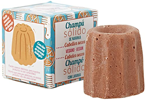 Lamazuna Shampoo Solido all'arancia per capelli secchi, 55 g