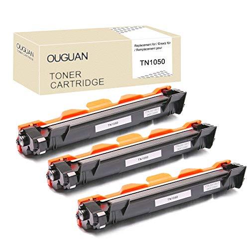 ouguan - Cartuchos de tóner compatibles con Brother TN1050 TN-1050 para Brother HL-1110 DCP-1510 HL-1210W DCP-1610W HL-1112 MFC-1810 HL-1212W MFC-1910W DCP-1612W DCP-1512 (3 )