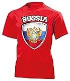 Russland ?????? Russia Fanshirt Fussball Fußball Trikot Look Jersey Kinder Kids Unisex t Shirt Tshirt t-Shirt Fan Fanartikel Outfit Bekleidung Oberteil Hemd Artikel
