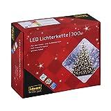 Idena 30441 - LED Lichterkette mit 300 LED in warm weiß, mit 8 Stunden Timer Funktion, Innen und Außenbereich, für Partys, Weihnachten, Deko, Hochzeit, als Stimmungslicht, ca. 37,9 m
