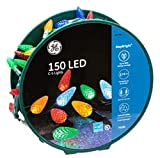 ge c5 led christmas lights - 150 LED C-5 Lights Stay Bright Traditional MultiColor Lights Green Wire on Reel