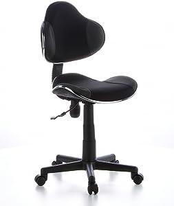 hjh OFFICE 634120 Sedia da ufficio per bambini KIDDY GTI-2 grigio nero, ideale per l'inizio dell'anno scolastico, sedia ergonomica, regolabile in altezza, base stabile, schienale ergonomico, sedia gioventù