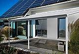 Home Deluxe - Terrassenüberdachung weiß - Maße: 495 x 303 x 226/278 cm - Inkl....