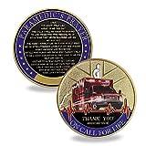 Emergency Medical Services Medic Challenge Coin EMT EMS Paramedic's Prayer Coin