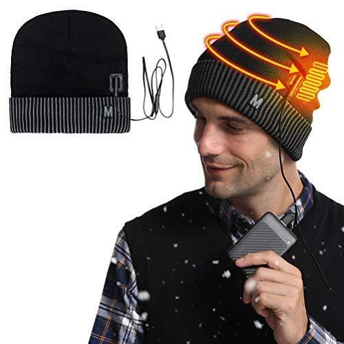 Katyma Sombrero con calefacción USB, Gorro de Seguridad de Invierno para Hombre,...