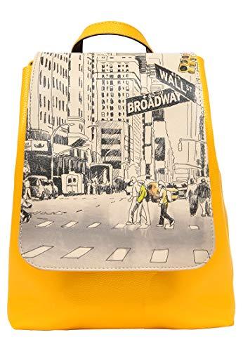DOGO Damen Rucksack - kleiner Tagesrucksack - veganes Leder - Hipsta Bag - One Way Only