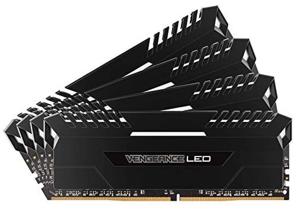 宇宙船支配的冷ややかなCorsair Vengeance 64GB (4x16GB) DDR4 3000 (PC4-24000) C15 for DDR4 Systems White LED (CMU64GX4M4C3000C15) [並行輸入品]