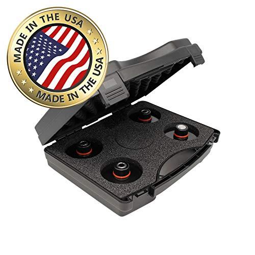 Original jackpad® Wagenheber Adapter mit Hubmagnet für Tesla Model 3 - (4 Stück im Koffer)