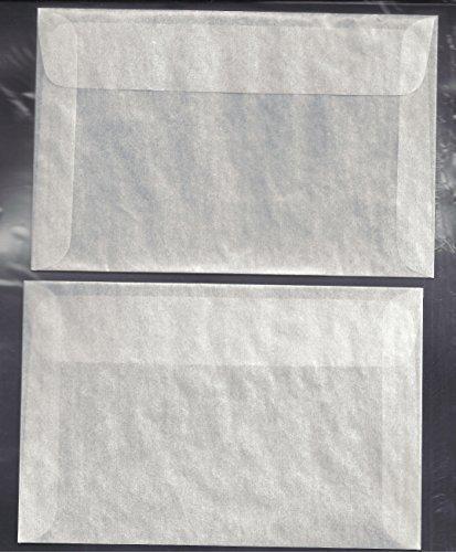 100#7 Glassine Envelopes Measuring 4 1/8 x 6 1/4 inches