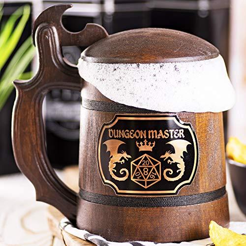 Dungeon Master Beer Mug, Dungeons & Dragons Beer Stein, DM Gift, DnD Beer Tankard, Gift for Him, Geek Gift