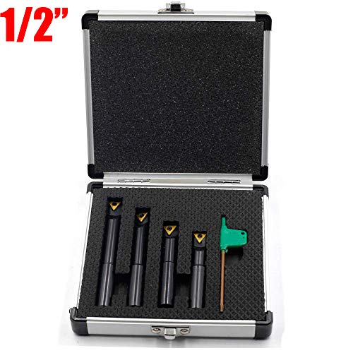 "1//2/"" boring bars set  9pcs carbide tips bar 12.5mm boring lathe tool turning bar"