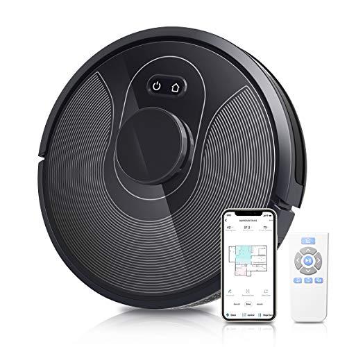 OZEANOS Robot Aspirador, 2500 Pa, mapeo inteligente láser, control con Alexa&Google Home, App&Wifi, 3 modos de limpieza, Aspira, Barre, Friega y Pasa la Mopa