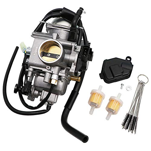 KIPA Carburetor for Honda TRX500 Foreman Rubicon 500 2001-2005 TRX500FA TRX500FPA TRX500FM, Replace OEM Part Number 16100-HN2-013, With Carbon Dirt Jet Cleaner Tool Kit & Fuel Filters