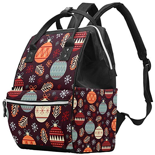 Festival Decoration Ball Travel Rucksack Casual Daypack Maternity Nappy Bag Organizer Nursing Bottle Bag
