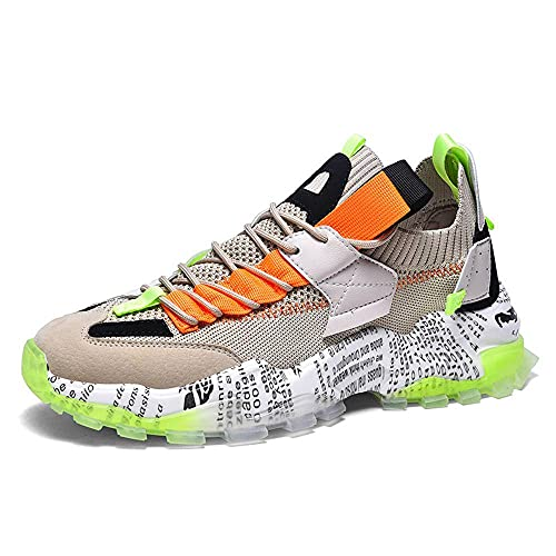 N\C Zapatos de hombre, zapatillas, zapatos viejos, zapatos diarios transpirables, bajos, suela gruesa, color a juego casual