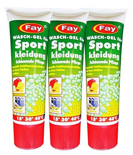 12 x Fay Wasch-Gel für Sportkleidung 230ml, Waschmittel, Wasch-Pulver, Wäschegel