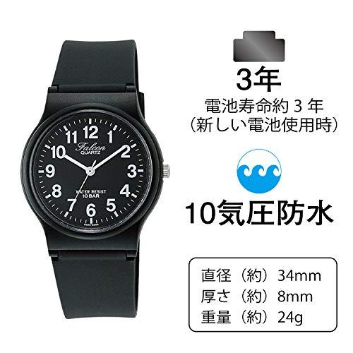 [シチズンQ&Q]腕時計アナログ防水ウレタンベルトVP46-854ブラック