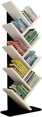 GWXJZ CD DVD Racks Multifunctional CD Storage Rack Tree Bookshelf Living Room Study Bedroom Floor-Standing Bookcase Shelf, L40W20H134CM