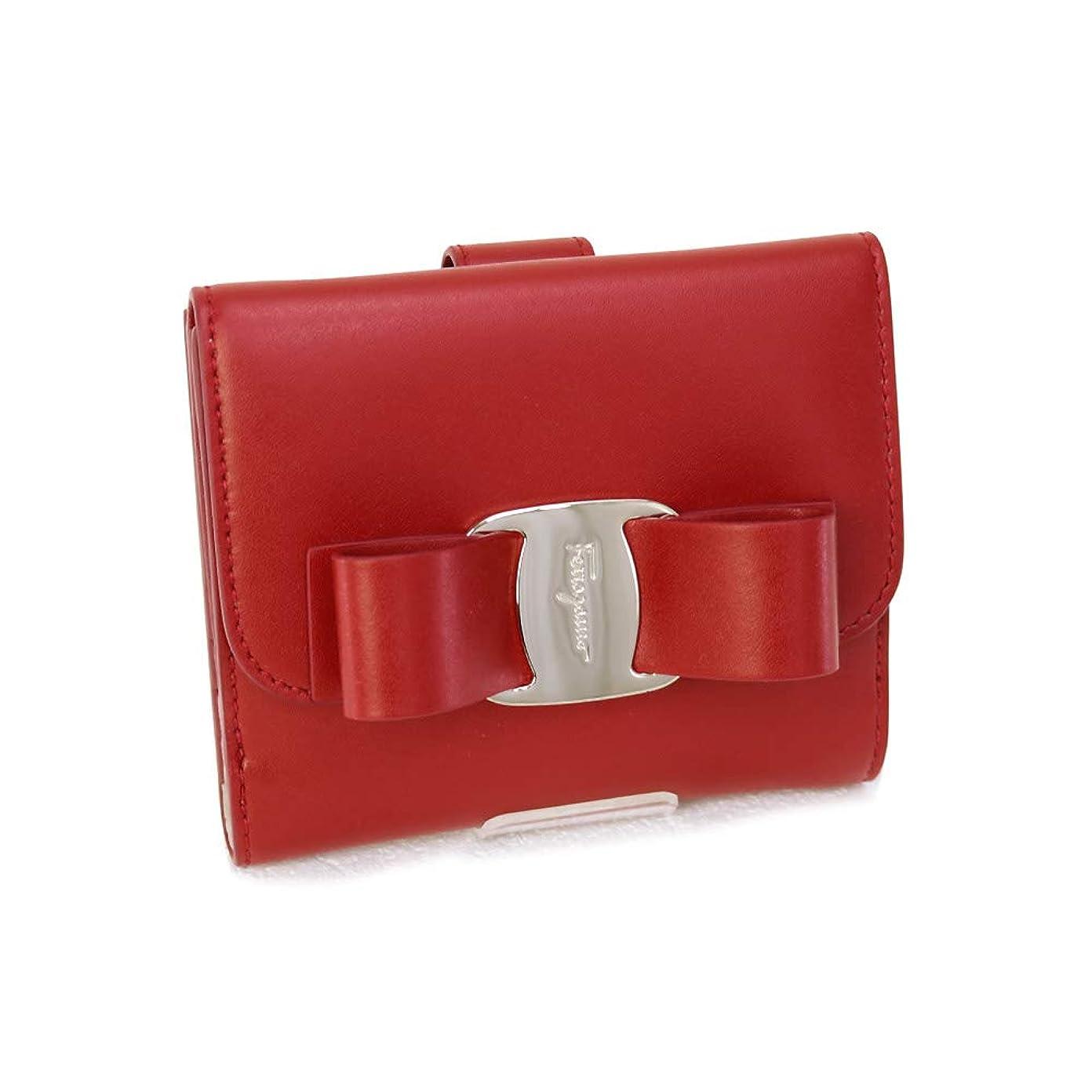 うれしい卒業周囲[サルヴァトーレ フェラガモ] Salvatore Ferragamo 財布 ヴァラリボン 折財布 カーフ レッド (22 D268 0691206 LIPSTICK) 19SS [並行輸入品]