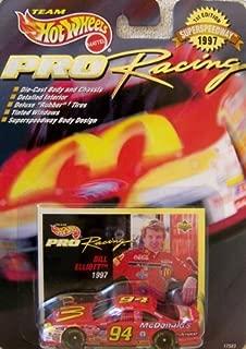 Hot Wheels 1997 1st Edition Bill Elliott #94 McDonald's Pro Racing Superspeedway 1:64 Scale Die Cast Car