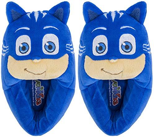 PJ Masks Kids Slippers, Catboy Full Body Slip On Slipper,Blue,Toddler Boys and Girls Size 11-12