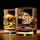 Whiskyglas mit Gravur (Original-Design) | Whiskey-Glas mit massivem Boden personalisierbar mit Namen und Datum | Individuelle Geschenkidee für wahre Geniesser