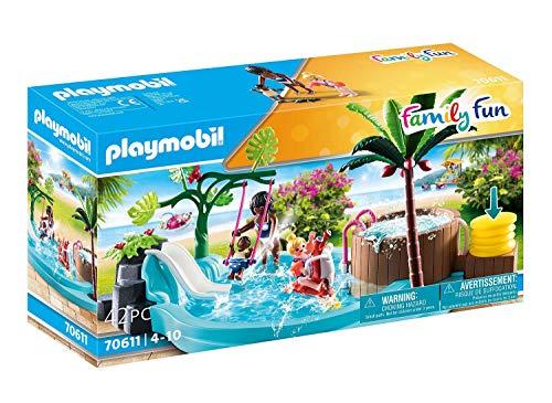 PLAYMOBIL Family Fun 70611 - Piscina Infantil con Jacuzzi para Jugar con Agua, a Partir de 4 años