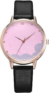 Wristband Women's Wrist Watches Ladies Series Girls Watch Female for Women Alloy Watch Women's White Cloud Diamond Watch,C...