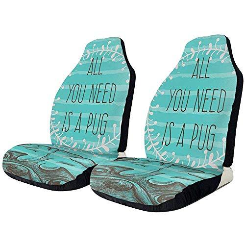 Autositzüberzug1 Stück Alles was Sie brauchen ist EIN Mops Aqua Dog Autositz Schutzkissen Gruppe Universal Fit